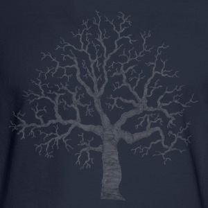 Navy Roots Tree Design Transparent Women's Tees (Short sleeve) - Men's Long Sleeve T-Shirt