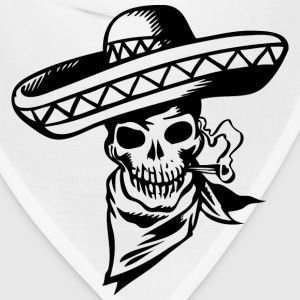 Heather grey Mexican Skull T-Shirts (Short sleeve) - Bandana