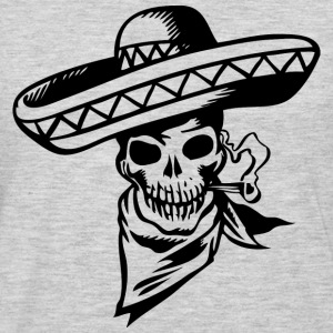 Heather grey Mexican Skull T-Shirts (Short sleeve) - Men's Premium Long Sleeve T-Shirt
