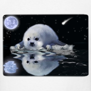Destiny The Harp Seal - Men's T-Shirt