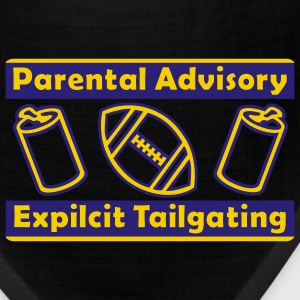 Black Parental Advisory Expilcit Tailgating T-Shirts - Bandana