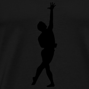 Black dancer silhouette Tanks - Men's Premium T-Shirt