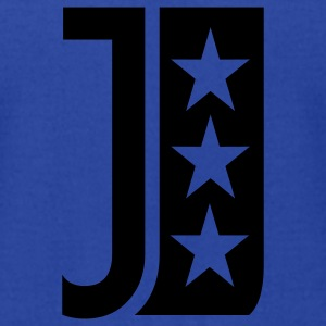 Royal blue j_letter_star Hoodies - Men's T-Shirt by American Apparel