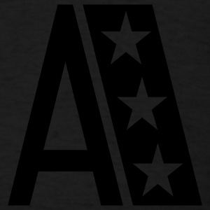Black A_letter_star Hooded Sweatshirts - Men's T-Shirt