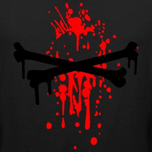 Black crossed bones drips T-Shirts (Short sleeve) - Men's Premium Tank