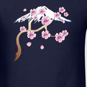 Cherry Blossoms and Mt. Fuji - Men's T-Shirt