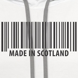 White Made in Scotland Kids Shirts - Contrast Hoodie