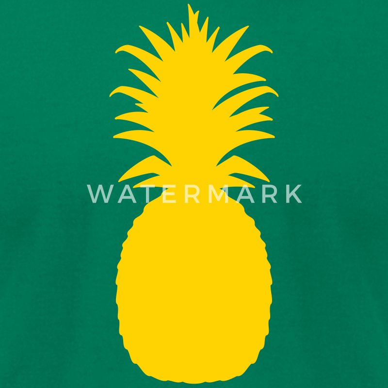 Kelly green pineapple T-Shirts - Men's T-Shirt by American Apparel
