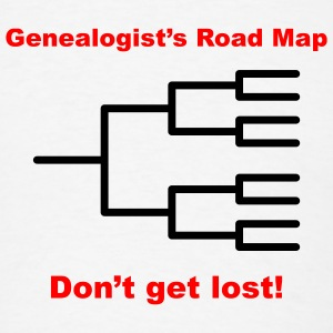 Genealogist's Road Map - Men's T-Shirt