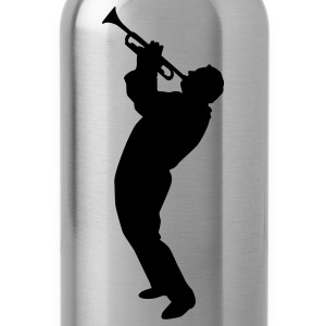 Gold trumpet player T-Shirts - Water Bottle