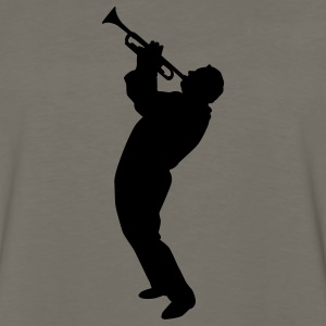 Gold trumpet player T-Shirts - Men's Premium Long Sleeve T-Shirt