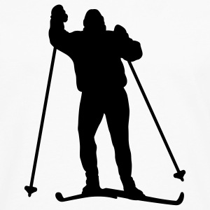 White skier T-Shirts - Men's Premium Long Sleeve T-Shirt