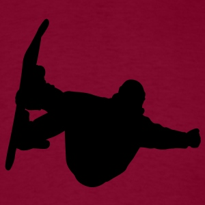 Burgundy snowboarding Hoodies - Men's T-Shirt