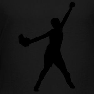 Black softball player Kids Shirts - Toddler Premium T-Shirt