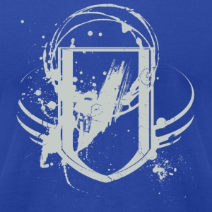 Royal blue Cool Graffiti Shield Grey Design Hoodies - Men's T-Shirt by American Apparel