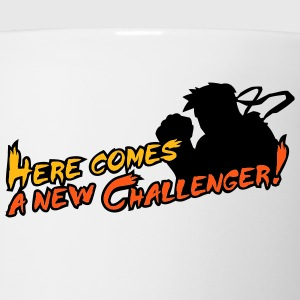 White/black Here comes a new challenger! T-Shirts - Coffee/Tea Mug