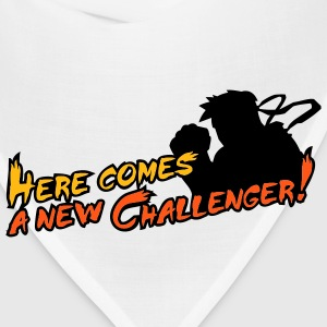 White/black Here comes a new challenger! T-Shirts - Bandana