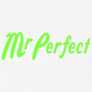 White Mr Perfect Buttons - Men's T-Shirt