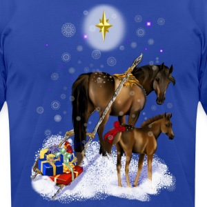 Christmas Mare and Colt - Men's T-Shirt by American Apparel