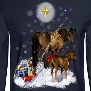 Christmas Mare and Colt - Men's Long Sleeve T-Shirt
