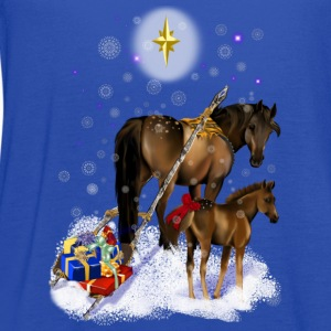 Christmas Mare and Colt - Women's Flowy Tank Top by Bella