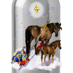Christmas Mare and Colt - Water Bottle