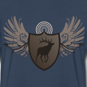 Green deer hunting crest and wings design Hoodies - Men's Premium Long Sleeve T-Shirt