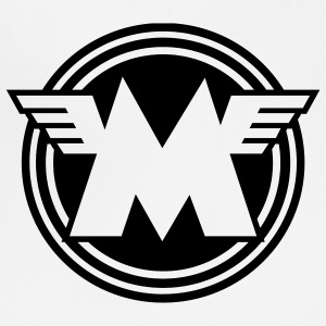 White/black Matchless emblem - AUTONAUT.com T-Shirts - Adjustable Apron