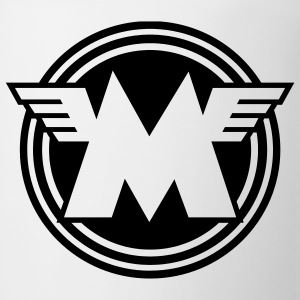 White/black Matchless emblem - AUTONAUT.com T-Shirts - Coffee/Tea Mug