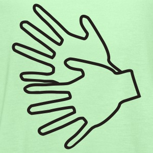 Bright green Sign Language T-Shirts - Women's Flowy Tank Top by Bella
