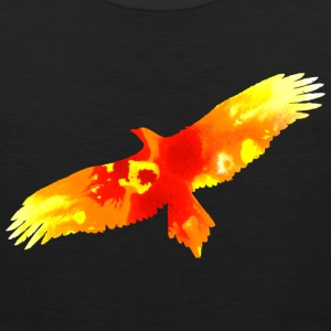 Black firebird watercolor fire painting T-Shirts - Men's Premium Tank
