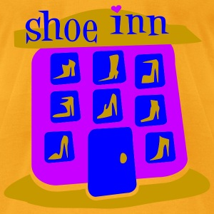 Creme Shoe Inn With Shoes And Boots Bags  - Men's T-Shirt by American Apparel