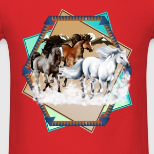 Horses In Snow  - Men's T-Shirt