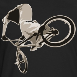 Black BMX bike trick design T-Shirts - Men's Premium Long Sleeve T-Shirt