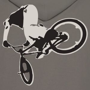 Khaki Extreme BMX Bike Flex Print Design T-Shirts - Men's Hoodie