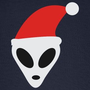Navy Christmas Alien Women's T-shirts - Baseball Cap