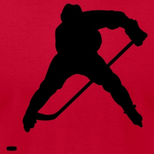 Red hockey Hoodies - Men's T-Shirt by American Apparel