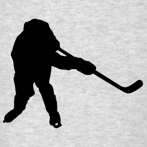 Heather grey hockey player silhouette Sweatshirts - Men's T-Shirt