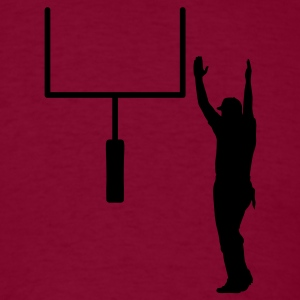 Burgundy Field goal Hoodies - Men's T-Shirt