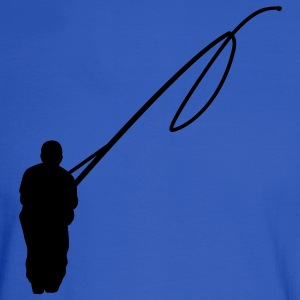 Royal blue Fishing line Hoodies - Men's Long Sleeve T-Shirt