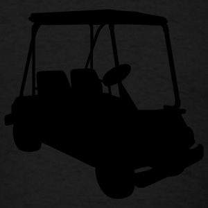 Black Golf cart Sweatshirts - Men's T-Shirt