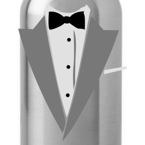 Black/white Hilarious Tuxedo Shirt T-Shirts - Water Bottle