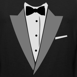 Black/white Hilarious Tuxedo Shirt T-Shirts - Men's Premium Tank
