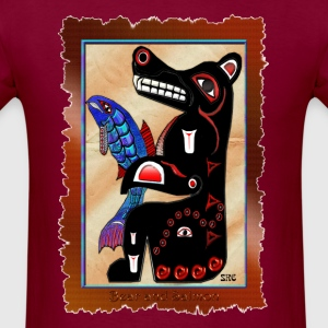 Haida-style Bear & Salmon - Men's T-Shirt