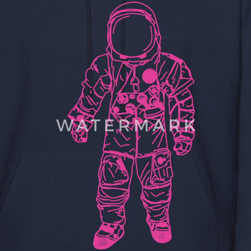 Navy moon man Pink Hoodies - Men's Hoodie