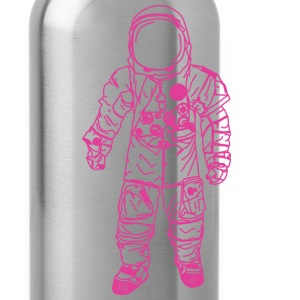 Navy moon man Pink Hoodies - Water Bottle