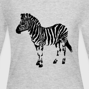 Wild Zebra - Women's Long Sleeve Jersey T-Shirt