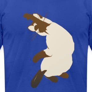 Sitting Siamese Cat - Men's T-Shirt by American Apparel