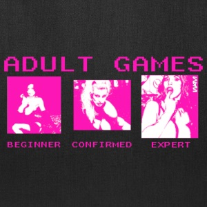 White adult games by wam Hoodies - Tote Bag