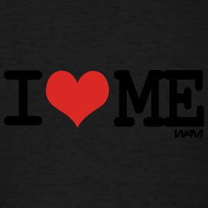 Black i love me by wam Long sleeve shirts - Men's T-Shirt